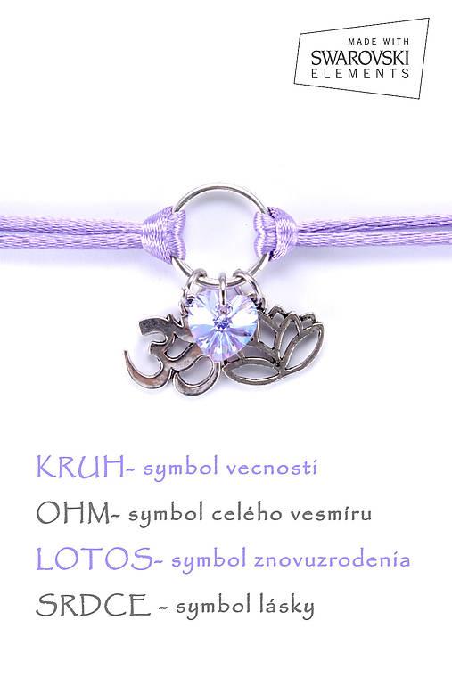 KARMA náramok fialový