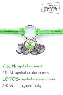 Náramky - KARMA náramok zelený - 8376221_