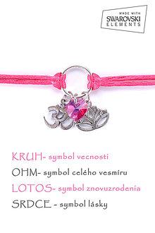 Náramky - KARMA náramok ružový - 8376227_