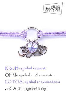 Náramky - KARMA náramok fialový - 8376235_