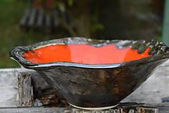 Nádoby - misa oranžová, zlatá - 8377053_