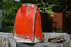 Dekorácie - váza oranžová