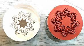 """Pomôcky/Nástroje - Akrylové pečiatky """"vločka-ornament"""" - 8376799_"""
