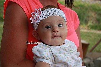 Detské doplnky - Čelenka na krst - 8377637_