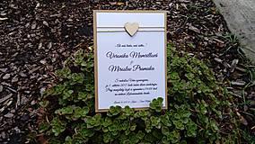 Papiernictvo - Svadobné oznámenie,,Wooden mini heart,,  - 8376665_