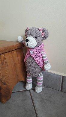 Hračky - medvedica Lucy,  36 cm - 8376519_