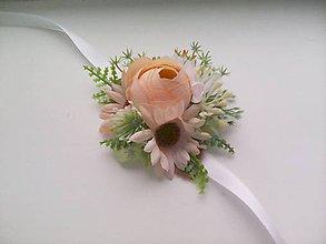 """Náramky - Kvetinový náramok na ruku """"...jemná marhuľová vôňa..."""" - 8377482_"""