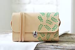 Kabelky - Listová kabelka MINI CLUTCH GREEN LEAF  - 8376723_