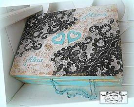 Krabičky - Velká svadobná krabica s čipkou :) - 8376946_