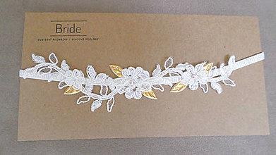 Bielizeň/Plavky - IVORY BASIC Goddess svadobný podväzok - 8376864_
