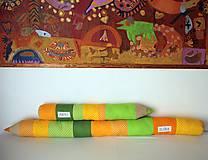 Úžitkový textil - Veľké ceruzky žlto-zelené - 8376897_