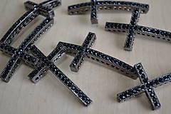 Komponenty - Kríž medzikus čierny 49mm, 1.80€/ks - 8376573_