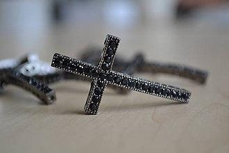 Komponenty - Kríž medzikus čierny 49mm, 1.80€/ks - 8376572_
