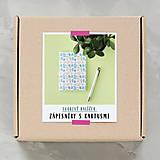 Návody a literatúra - Zápisníky s kaktusmi - tvorivý balíček s návodom - 8381016_