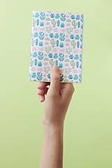 Návody a literatúra - Zápisníky s kaktusmi - tvorivý balíček s návodom - 8381017_