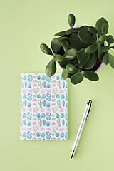 Návody a literatúra - Zápisníky s kaktusmi - tvorivý balíček s návodom - 8381018_