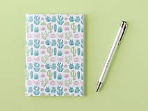 Návody a literatúra - Zápisníky s kaktusmi - tvorivý balíček s návodom - 8381019_
