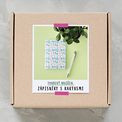 Zápisníky s kaktusmi - tvorivý balíček s návodom