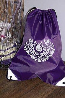 Batohy - Fialový ruksak - folk - 8381115_