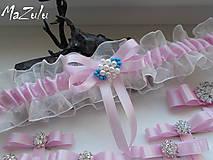 Bielizeň/Plavky - Svadobný podväzok v ružovom - 8378904_