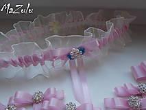 Bielizeň/Plavky - Svadobný podväzok v ružovom - 8378906_