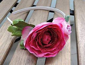 Ozdoby do vlasov - Čelenka ružová - 8379094_