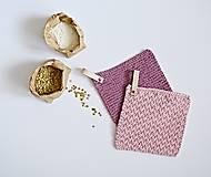 Úžitkový textil - Chňapky II EXTRA hrubé - ružové (Fialová) - 8380736_