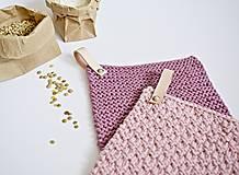 Úžitkový textil - Chňapky II EXTRA hrubé - ružové (Fialová) - 8380740_