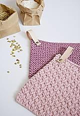 Úžitkový textil - Chňapky II EXTRA hrubé - ružové (Fialová) - 8380741_