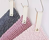 Úžitkový textil - Chňapky II EXTRA hrubé - ružové (Fialová) - 8380742_