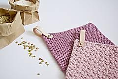 Úžitkový textil - Chňapky II EXTRA hrubé - ružové (Fialová) - 8380744_