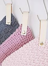 Úžitkový textil - Chňapky II EXTRA hrubé - ružové (Fialová) - 8380745_