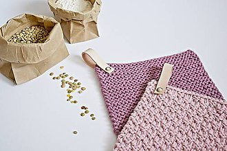 Úžitkový textil - Chňapky II EXTRA hrubé - ružové (Fialová) - 8380743_