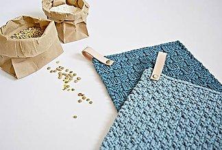 Úžitkový textil - Chňapky II EXTRA hrubé - petrolejová/džínsová - 8380822_