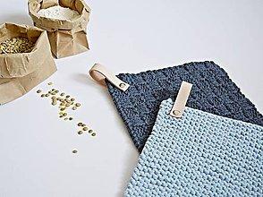 Úžitkový textil - Chňapky II EXTRA hrubé - vypraná/bledomodrá - 8380854_