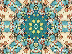 Grafika - Kaleidoskop 15x20cm Fine Art Board na doske - 8381085_