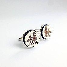 Šperky - Manžetové gombíky Čičmanský kohút - 8380542_