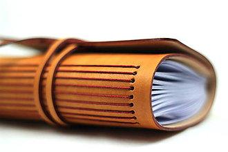 Papiernictvo - Kožený zápisník SUN A6 - 8380386_