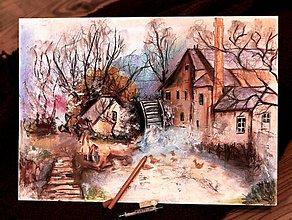 Kresby - watermill - 8381105_