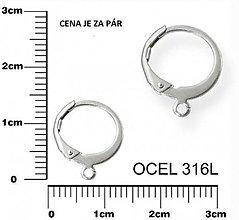 Komponenty - Okrúhle zatváracie háčiky z chirurgickej ocele - 8381099_