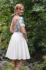 Šaty - Folk maľované maslové šaty... - 8380278_