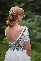 Šaty - Folk maľované maslové šaty... - 8380282_