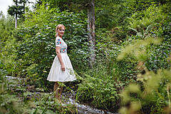 Šaty - Folk maľované maslové šaty... - 8380286_