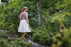 Šaty - Folk maľované maslové šaty... - 8380287_