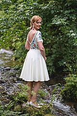 Šaty - Folk maľované maslové šaty... - 8380298_