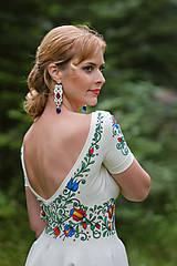 Šaty - Folk maľované maslové šaty... - 8380738_