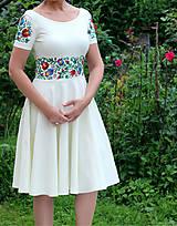 Šaty - Folk maľované maslové šaty... - 8380793_