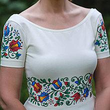 Šaty - Folk maľované maslové šaty... - 8380279_