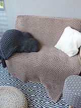 Úžitkový textil - Pletená deka 130 x 200 cm - kapučíno - 8381251_