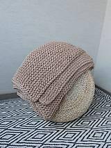Úžitkový textil - Pletená deka 130 x 200 cm - kapučíno - 8381261_